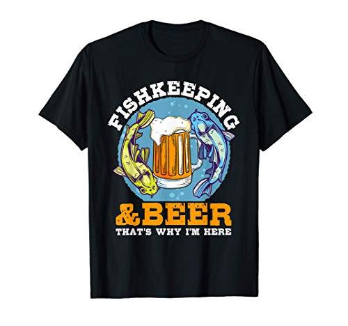 Aquaristik & Bier Fischhaltung Fische Aquarium Aquaristik T-Shirt
