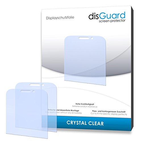 disGuard® Bildschirmschutzfolie [Crystal Clear] kompatibel mit BlackBerry Classic [2 Stück] Kristallklar, Transparent, Unsichtbar, Extrem Kratzfest, Anti-Fingerabdruck - Panzerglas Folie, Schutzfolie