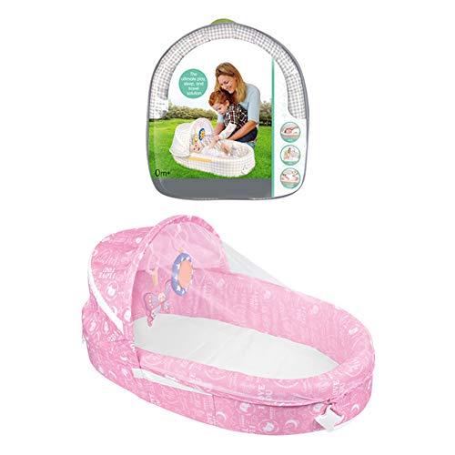 LYN&xxx Baby-Rocker Schaukel und Stuhl, Baby Multifunktionale tragbares Separate Bett Baby Faltbare Mittel Bett mit Moskitonetz Comfort Bett Toy Bett Bett,Rosa