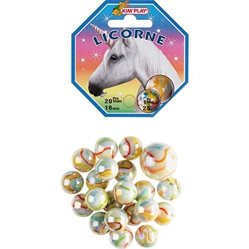 Don Juan-20+1 Billes Licorne, COU500840, Multicolore