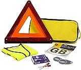 AA AA5465 - Kit de Viaje para Conducir por Francia, con Alcoholímetros, Triángulo de Emergencia, Insignia de GB, Conversores para Faros de Coche y Chaleco Reflectante, Cumple con las Normativas