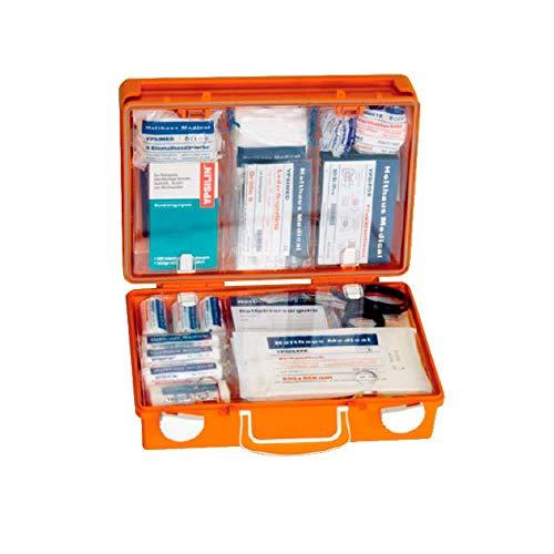 Holthaus Medical Erste-Hilfe-Koffer SAN Verbandskasten Notfallkasten, 31x21x13cm, mit ÖNORM Z 1020 Typ 1