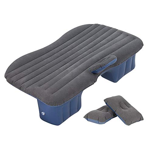 HAITRAL Portable Travel Camping Inflatable Mattress with Pillow Fits Most Car Models for Camping...