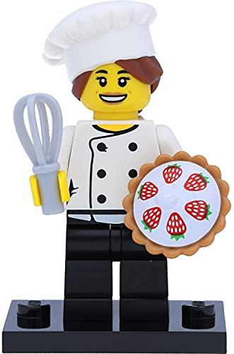 LEGO 71018 - Mini statuetta a forma di cuoco di stella/cuoco Gourmet Köchin / Chef (serie 17, #3) in confezione regalo