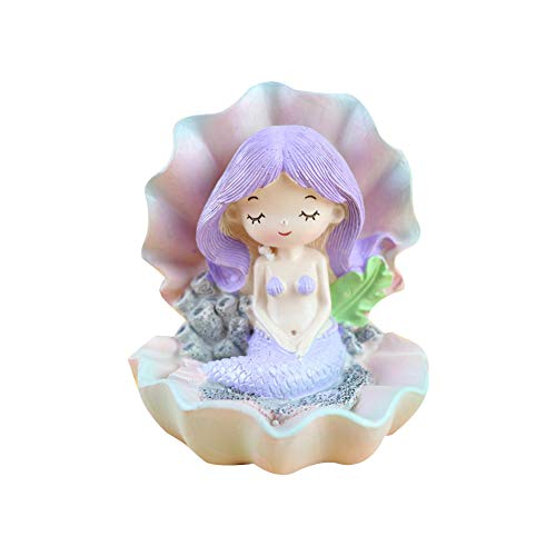 Meerjungfrau-Figur, lila Geburtstagskuchen-Dekoration, Kinderspielzeug, Heimdekoration, kreatives Meerjungfrauen-Modell.