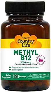 Country Life Superior B12-120 Sublingual Lozenges - 3000 mcg - Methyl B12 - Supports Energy and Stamina -Tastes Great