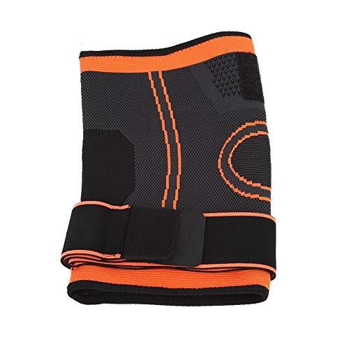 BLLBOO Knieunterstützung Brace Guard Einstellbare Band Knie Sleeve Protector Outdoor Indoor Sports Orange M