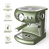WLNKJ Kaffeevollautomat, 19-Bar-Hochdruck-Kaffeemaschine Im Retro-Stil Mit Pumpe Und...