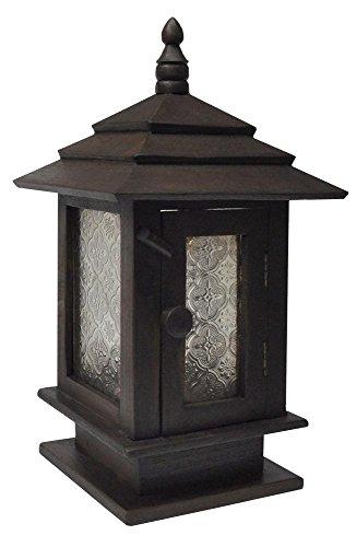 Wilai GmbH Lampada di legna, lanterna fabbricata alla mano, importata dalla Tailandia (15204)