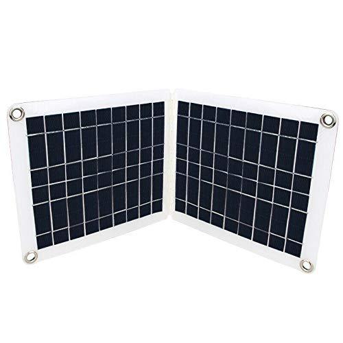 Skysun ソーラーパネル60W 折りたたみ式 60W ソーラーパネル 充電器 発電所発電機 およびUSBデバイス パワーバンクカーボートRV用 太陽光発電パネル ソーラーパネル 折りたたみ ソーラーパネル バッテリー