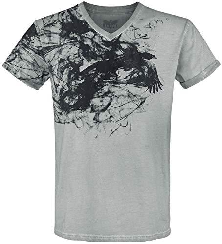 Black Premium by EMP Heavy Soul Homme T-Shirt Manches Courtes Gris XXL