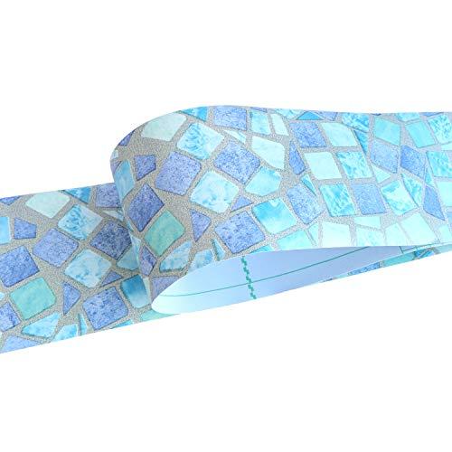 Uoisaiko Wasserdichte Wandbordüre selbstklebende Tapetenbordüre zum Abziehen und Aufkleben für Wandverkleidung, PVC-Fliesen-Bordüre für Badezimmer, Küche, 10 cm x 10 m, Braun