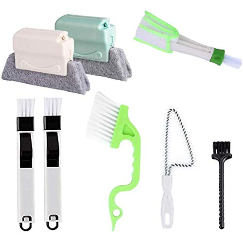 Auplew Cepillo de limpieza de ranuras rápido para todos los rincones y huecos a mano, herramientas de limpieza de huecos con mango cómodo y diseño de cabeza fija