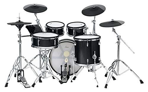 XDrum DD-670 Mesh E-Drum Kit - elektronisches Schlagzeug mit echter HiHat und Holzkesseln - 14