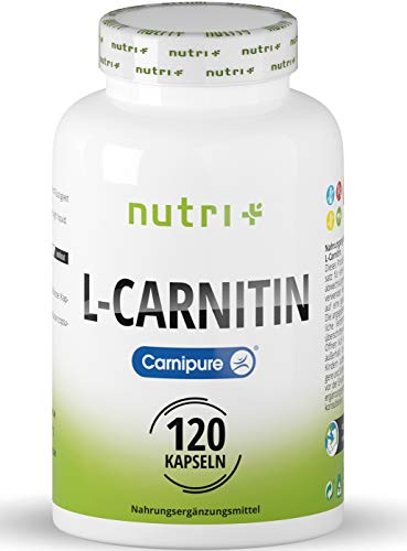 L-Carnitine Carnipure – Test Winner 2018* – Laboratory-Tested Quality from Germany – Vegan L-Carnitine 3000-120 Capsules Without additives – Popular with Figure-Conscious People