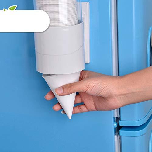 250PCS 3.7oz Wegwerfkegel-Wasser-Schalen-Papiertrichter-Schalen-Schnee-Kegel-Schalen - Weiß
