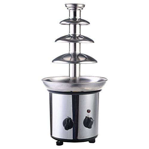 4 Tiers Stainless Steel Hot Luxury Chocolate Fondue Fountain Commercial NeW