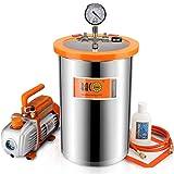BACOENG Bomba de Vacío 85 L/min con 19 Litro Cámara de vacío