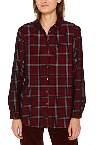 ESPRIT Damen 109Ee1F014 Bluse, Rot (Garnet Red 620), (Herstellergröße: 38)