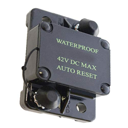 PETSOLA Vehicles Cars Boat Circuit Breaker Protection Waterproof Electric Auto Reset 30A-300A DC 42V, Plastic, 75mm