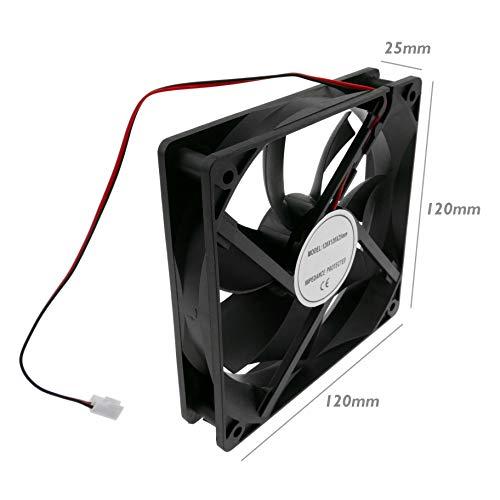 BeMatik - Ventilador de chasis 120x120x25 mm de 24 VDC para Caja...