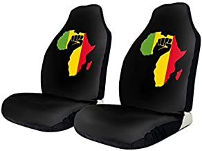 NA-1 Rasta African Black Power Car Seat Cover Protector Cushion Premium Covers for Women, Men, Girls, Boys Fits Most Cars, Truck, SUV Or Van