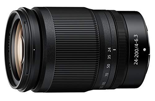 Nikon Nikkor Z 24-200mm f/4-6.3 VR, Teleobiettivo zoom ultracompatto a pieno formato, trattamento arneo e al fluoro, ideale per filmati, Nero [Nital Card: 4 Anni di Garanzia]
