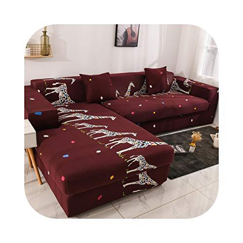 Sofa Covers - Funda de sofá de algodón, fundas de sofá extensibles, para salón o pedido, 2 piezas para adaptarse al sofá esquinero, chaise longue o sofá de 4 a 4 – 4 – Seater 235 – 300 cm