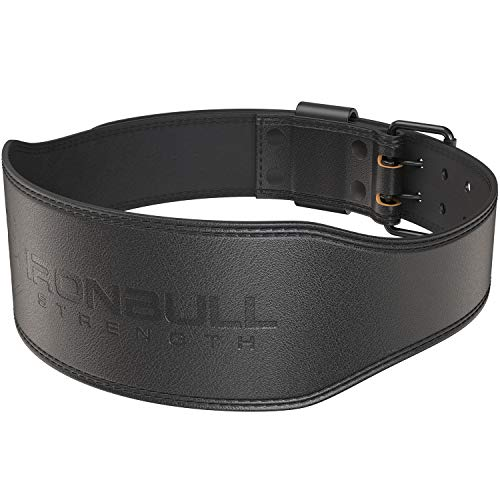 Iron Bull Strength 7mm Leather Weight Lifting Belt - 4' Wide Tapered Premium Leather Lifting Belt for Gym, Workout & Weight Training - Weightlifting Belts for Men and Women (X-Large, Black)