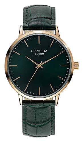 Orphelia moda męski zegarek analogowy wiktoriański ze skórzanym paskiem pasek ZIELONY
