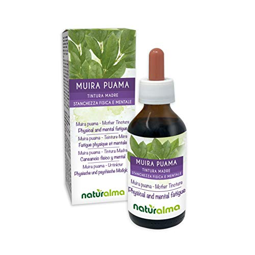 Muira puama (Ptychopetalum olacoides) Rinde Alkoholfreier Urtinktur Naturalma | Flüssig-Extrakt Tropfen 100 ml | Nahrungsergänzungsmittel | Veganer