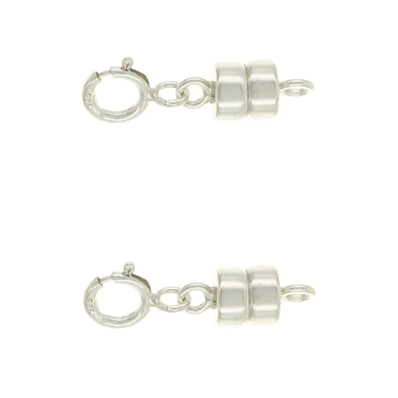 Sterling Silver 4.5 mm Magnetic Clasp Converter for Jewelry and Necklaces | Made in USA [2 Pack]