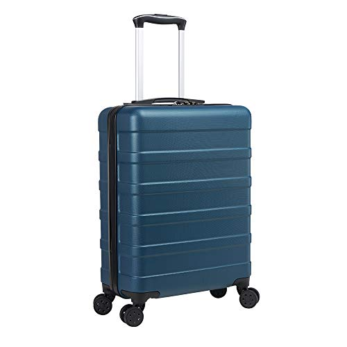 Cabin Max Anode Carry On Hand Luggage Suitcase - Lightweight, Hard Shell, 4 Wheels, Smart USB Port, 3 Digit Combination Lock (Endless Sea, 55 x 40 x 20 cm)
