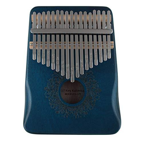 Pianoforte portatile pollice 17 chiave pollice pollice pianoforte Kalimba dito pianoprincipiante (dimensioni: 13x3x17cm; colore: blu)