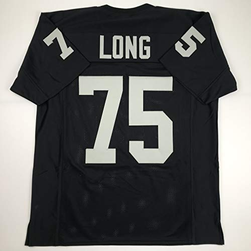 Unsigned Howie Long Oakland Black Custom Stitched Football Jersey Size Men's XL New No Brands/Logos