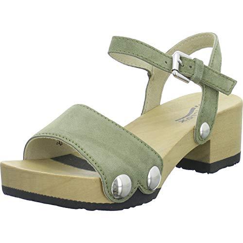 Softclox Damen Penny Kaschmir Grüne Veloursleder Sandalette Größe 41 EU Khaki 50
