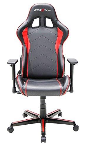 DXRacer OH/FH08/NR F08-NR Stuhl, Polyurethan, Schwarz/Rosa, M