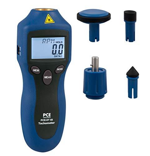 PCE Instruments Drehzahlmesser PCE-DT 65 Laser Umdrehungsmesser zum berührungslosen messen