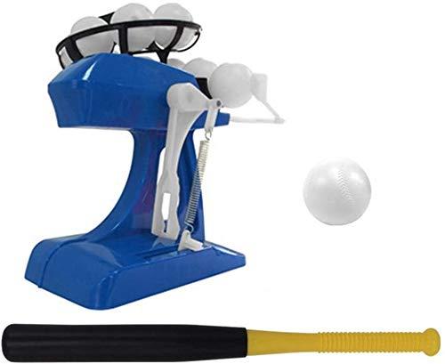 J & J Baseball Pitching Machine Baseball Pitching-Maschine für Kinder, Ball Pitching Spielautomaten, Aktiv Spielzeug Im Freien Sport Gaming,Blau