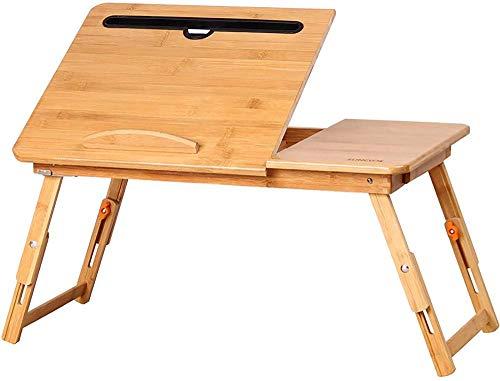 Bandeja de bambú Plegable para el Escritorio de Laptop Multi-Touch para el Trabajo del Desayuno Mire una película en un sofá/sofá/Piso Fantastic