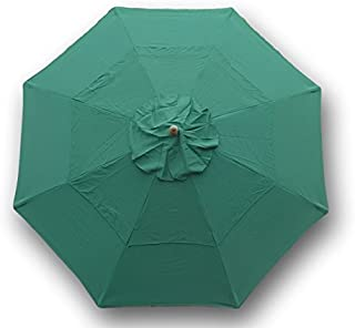 Formosa Covers Double Vented 9ft Replacement Canopy 8 Ribs in Green (Canopy only)