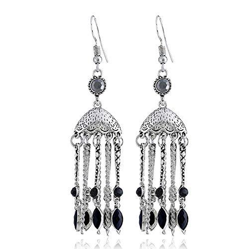European and American fashion jewelry retro ethnic style earrings dome long earrings women