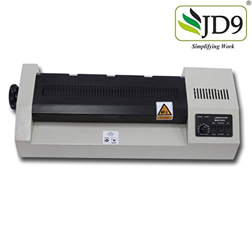 JD9 Professional Lamination/Laminating Machine Compact- Fully Automatic Professional Lamination Machine/Laminator for Upto A3 Size with Hot and Cold Lamination(Photos ID,I-Card,Document,Certificate).