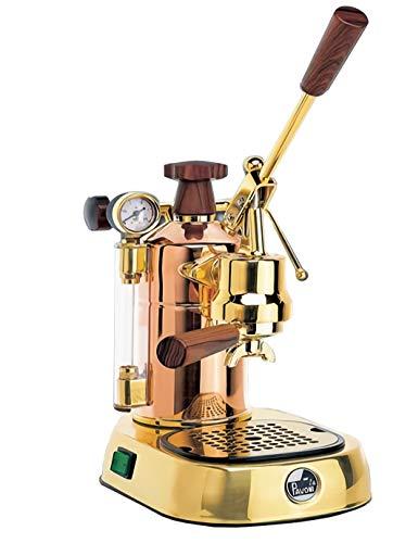La Pavoni PB-16 Professional Copper/Brass Lever Espresso Machine; 38 oz boiler capacity; Capable of making 16