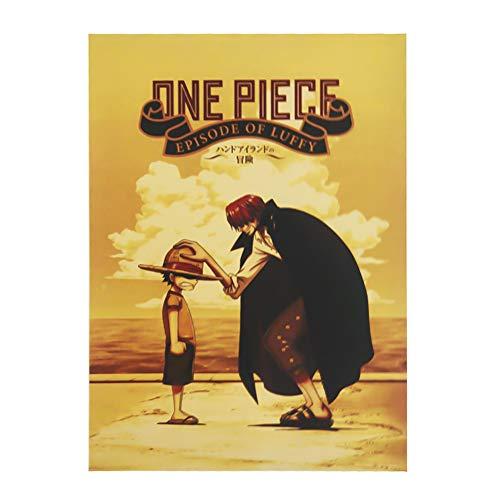 SGOT Anime Poster One Piece Poster Malerei Kraftpapier Hochwertiger Kunstdruck als Wandbild Raum Dekoration Thema Dekoration 51,5 * 36cm(H02)