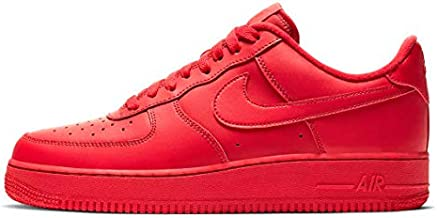 Nike Air Force 1 07 Lv8 1 Mens Cw6999-600 Size 9, University Red/University Red-black