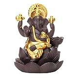 Healifty Ganesha Buda Reflujo Quemador de Incienso Titular...