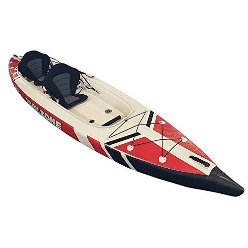 JBAY.ZONE Kayak Kanu aufblasbar Zweisitzer V-Shape Duo 426x89cm Drop-Stitch hoher Druck