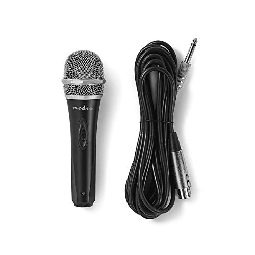 Nedis MPWD50BK Microfono a Filo   Sensibilità -72 dB +/-3dB   50 Hz - 14 kHz   5,0 m