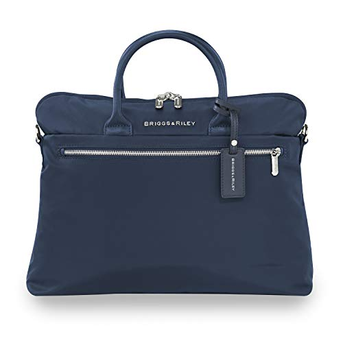 Briggs & Riley Rhapsody Slim Business Briefcase, 38 cm, 8.6 liters, Nav